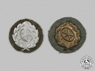 Germany, Wehrmacht. A Pair of Driver Proficiency Badges