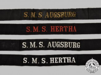 Germany, Imperial. A Lot of Cap Tally Ribbons