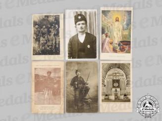 Yugoslavia, Serbia. Six Chetnik Photographs and Postcards