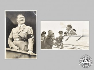 Germany, Third Reich. A Pair of AH Postcards
