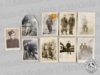 Yugoslavia, Serbia. Nine Chetnik Photographs