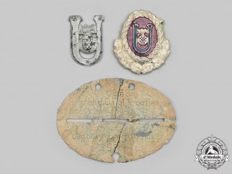 Croatia, Independent State. A Croatian Ordnungspolizei Identification Tag, with Ustasha Insignia