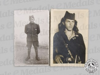 Yugoslavia, Serbia. Two Chetnik Photographs