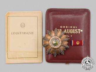 Romania, Republic. An Order of 23rd August, I Class Star in Gold, Issued to Gheorghe Gheorghiu-Dej