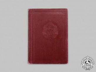 Romania, Republic. A 1956 Issued Diplomatic Passport of Gheorghe Gheorghiu-Dej