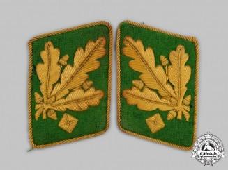 Germany, Ordnungspolizei. A Rare Set of Generalleutnant der Polizei Collar Tabs