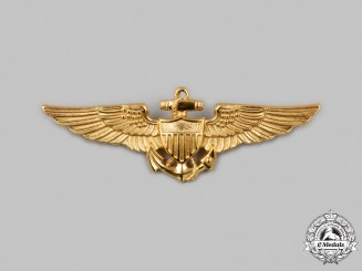 United States. A United States Navy (USN) Naval Aviator Qualification Badge, By N.S. Meyer, c.1942