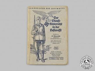 Germany, Luftwaffe. A 1937/38 Edition of Der Dienstunterricht in der Luftwaffe