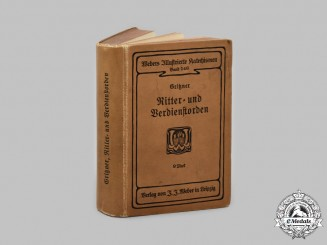 Germany, Imperial. An 1893 Edition of Ritter- und Verdienstorden