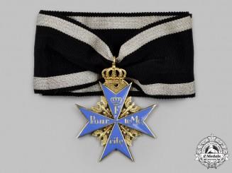 Prussia, Kingdom. A Pour le Mérite with Crown Decoration, by Rothe, c.1925