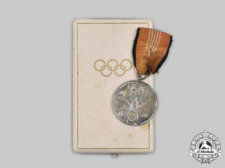 Germany, Third Reich. A German Olympic Medal, with Case