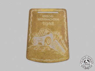 Germany, Luftwaffe. A 1942 Christmas at War Aviation Troops Training Centre Commemorative Plaque