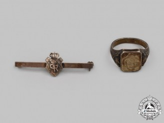 Germany, Imperial. A Lot of Silver Monogram Insignia