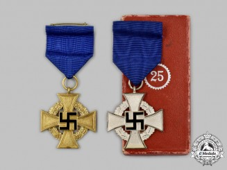 Germany, Third Reich. A Pair of Civil Service Long Service Crosses
