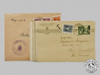 Croatia, Independent State. A Lot of Eighteen Postcards and One Envelope, c. 1941-1944