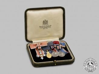 United Kingdom. A Gold Kaisar-I-Hind Meda & Ladies OBE Miniature Group