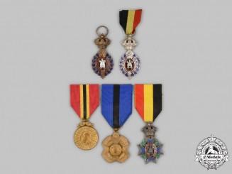 Belgium, Kingdom. A Lot of  Five Decorations & Awards