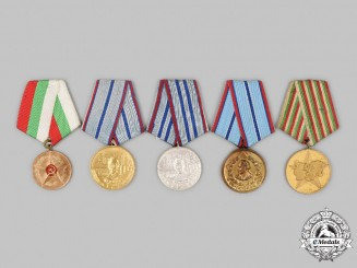Bulgaria, People's Republic. A Lot of Five Medals & Awards