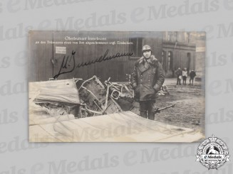 Germany, Imperial. A Wartime Signed Postcard of Fighter Ace Max Immelmann