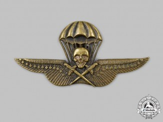 Hungary, Kingdom. A Rare Royal Hungarian Army Parachutist's Badge, Bronze Grade