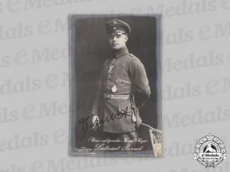 Germany, Imperial. A Wartime Signed Postcard of Fighter Ace Fritz Otto Bernert