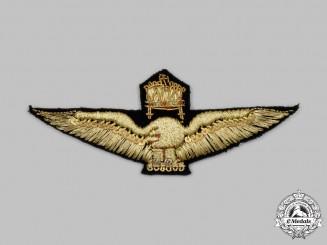 Hungary, Kingdom. A Royal Hungarian Air Force Pilot's Badge, Cloth Version