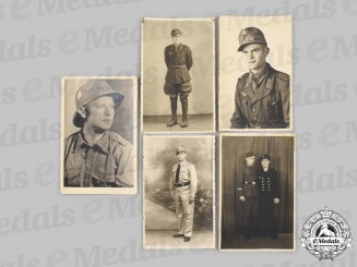 Germany, Wehrmacht. A Lot of Wartime Tropical Personnel Portraits