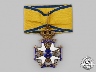 Sweden, Kingdom. A Royal Order of the Sword, Commander with Ball Finials, c.1950