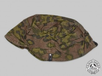 Germany, SS. A Waffen-SS Reversible Camouflage Helmet Cover