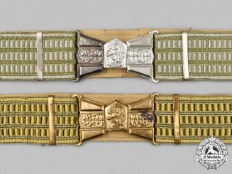 Czechoslovakia, Socialist Republic. Two People's Army Belts