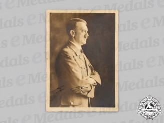Germany, Third Reich. A Signed AH Postcard