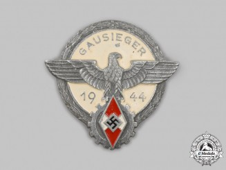 Germany, HJ. A 1944 National Trade Competition Regional Victor's Badge, by Gustav Brehmer