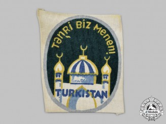 Germany, Wehrmacht. A 162nd Turkestan Division Volunteer's Sleeve Insignia, Third Pattern