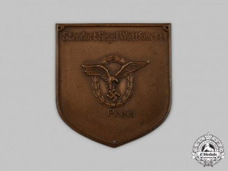 Germany, Luftwaffe. An Unissued Luftwaffe Sports Prize Plaque