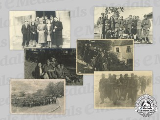 Yugoslavia, Serbia. Six Second War Chetnik Photographs