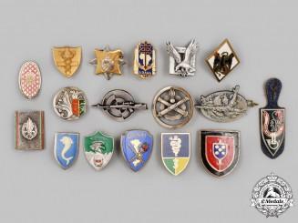 France, V Republic. A Lot of Seventeen Regimental Badges