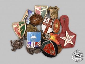 France, V Republic. A Lot of Eighteen Regimental Badges