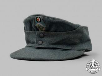 Germany, Ordnungspolizei. An EM/NCO's M43 Field Cap, by Bayerische Mützen-Fabrik