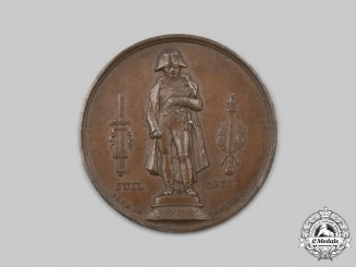 France, July Monarchy. A Medal for the Inauguration of the Statue of Napoleon Bonaparte 1833