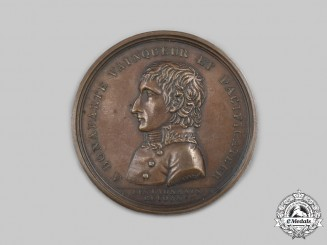 France, Napoleonic Kingdom. A Napoleon Bonaparte Conqueror & Pacifier Medal