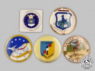United States. A Lot of Five Air Force (USAF) and Navy (USNS) Insignia Badges