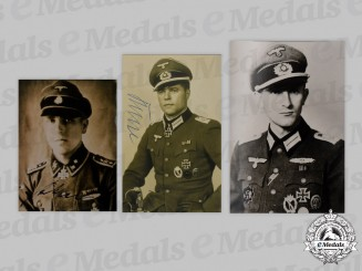 Germany, Wehrmacht. A Lot of Postwar Signed Photos of Prominent Award Recipients