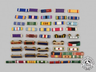 United States. A Lot of Forty-Two Unit Citations and Ribbon Bars