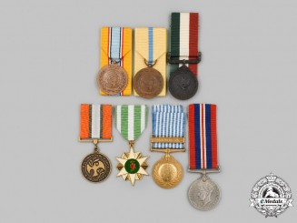 United Kingdom, United Nations, Vietnam, International. A Lot of Seven Military Service Medals