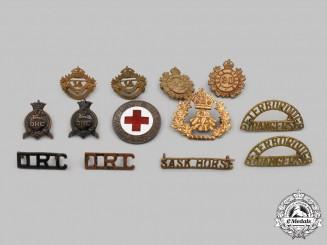 Canada. A Lot of Twelve Regimental Badges