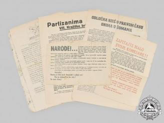 Croatia, Independent State. A Lot of Anti-Partisan Leaflets