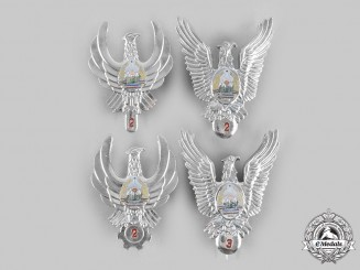 Romania, People's Republic. Four Air Force (RoAF) Badges