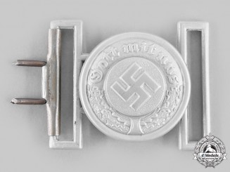 Germany, Ordnungspolizei. An Ordnungspolizei Officer's Belt Buckle, by Overhoff & Cie