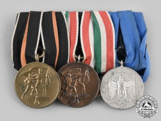 Germany, Wehrmacht. A Memel Medal & Long Service Medal Bar