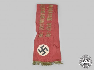 Germany, Third Reich. A Funeral Sash from the Mayor of Mannheim